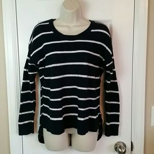 Madewell Chronicle Sweater Stripe Navy White